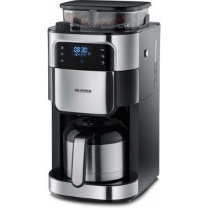Severin kaffemaskine med kværn og termokande